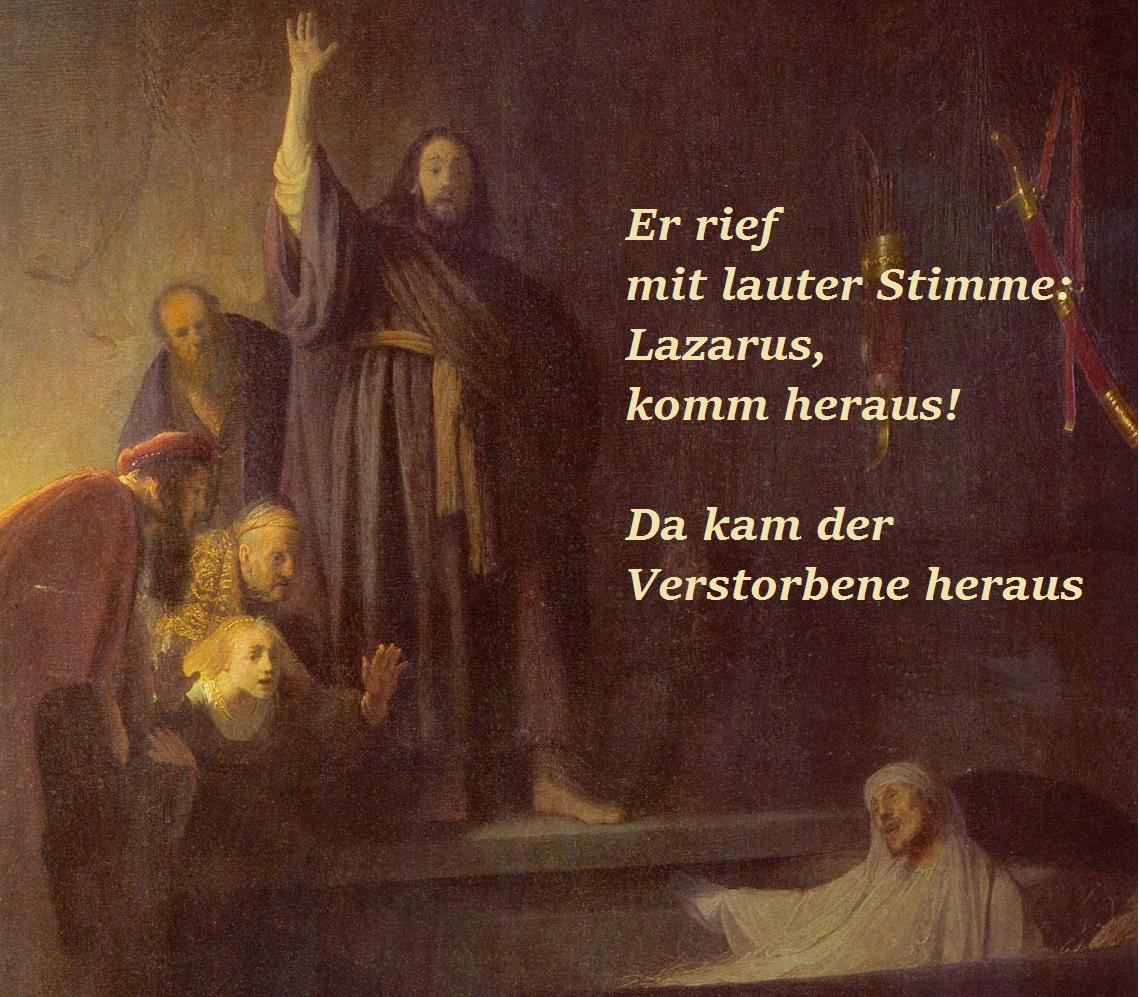 Fastenwoche 5 - Auferweckung Lazarus
